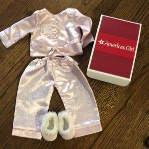 American Girl Ruthie's satin pajamas retired